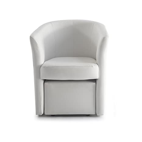FRAMA POLTRONCINA Denia con Pouf Estraibile (Bianco): Amazon.it ...