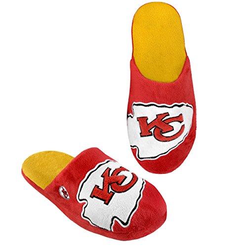 Kansas Slide (NFL Kansas City Chiefs 2011 Big Logo Slide Slipper Hard Sole Medium)