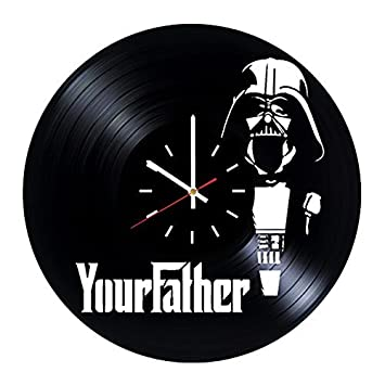Amazon.com: star wars Darth Vader Reloj de pared vinilo ...