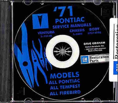 - 1971 PONTIAC FACTORY REPAIR SHOP & SERVICE MANUAL & FISHER BODY MANUAL CD - Bonneville, Catalina, GTO, Tempest, Tempest Custom, Tempest LeMans, Grand Prix, T37, GT37, Firebird and Trans Am (includes all convertibles and wagons) 71