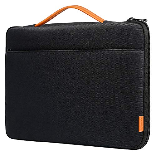 (Inateck 15 Inch Laptop Sleeve Shockproof Water-Resistant Case Compatible 15'' MacBook Pro 2018/2017/2016(A1990/A1707), 15.4'' MacBook Pro 2013-2015(A1398) Briefcase Bag - Black)