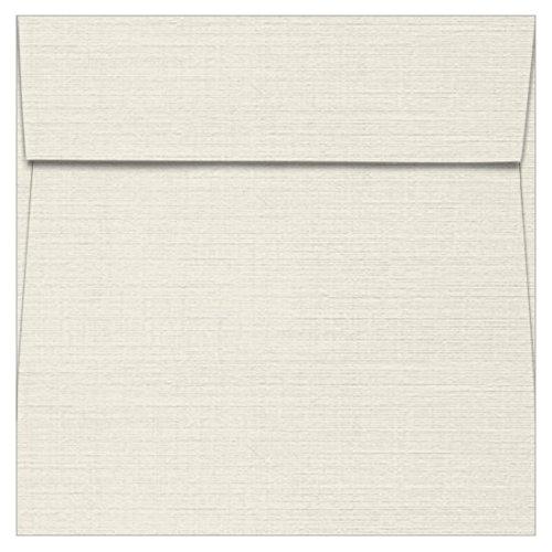 5 Square Classic Linen Antique Gray Envelopes - Square Flap, 80T, 1000 Pack