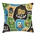 Rdkekxoel Throw Pillow Case Cotton Linen Cushion Cover Sofa Decorative Square