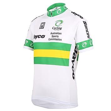 Santini Replica Men s Australian National Team 16 Short Sleeve Jersey-White 2eaa87409