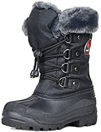 Boys & Girls Toddler/Little Kid/Big Kid Insulated Fur Winter Waterproof Snow Boots