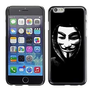MOBMART Carcasa Funda Case Cover Armor Shell PARA Apple iPhone 6 / 6S - Translucent Masked Man