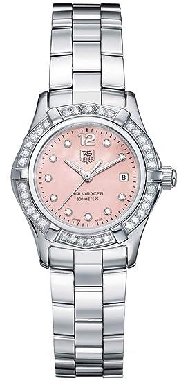 a4e3dff4138 Tag Heuer Aquaracer MOP Diamond Ladies Watch WAF141B.BA0824 Wrist Watch  (Wristwatch)  Amazon.co.uk  Watches