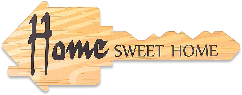 WaaHome Key-Shaped Home Sweet Home Real Estate Photo Props Sign, 6.6''x17.7''