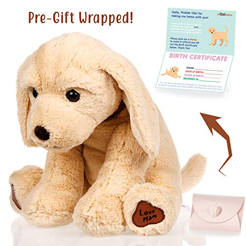 Dog stuffed animals - Cute, Soft and Cuddly Puppy Plush Animals Toy. Great Gifts for Baby Showers, Birthdays, Valentines or Christmas. Super Huggable Dogs Puppies Plushies Golden Retriever Labrador ()