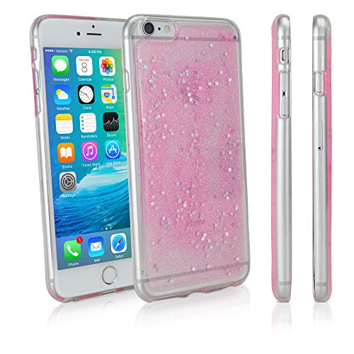 iPhone 6Plus Case, BoxWave® [glitterdream Fall] Durable TPU Cover mit Regenbogen Glitzer Design für Apple iPhone 6Plus–Princess Pink