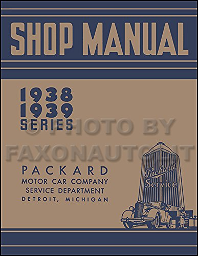 1938-1939 Packard Repair Shop Manual Reprint - All for sale  Delivered anywhere in USA