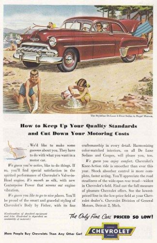 1952 Chevrolet Styleline DeLuxe 2-Door Sedan: Quality Standard, Chevrolet Print Ad Styleline Deluxe 2 Door Sedan
