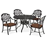 Cheap Home Styles Floral Blossom 5-Piece Dining Table, Charcoal