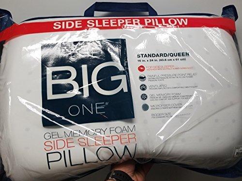 The Big One - Gel Memory Foam Side Sleeper Pillow (Standard / queen: 16'' x 24'' x 5'')