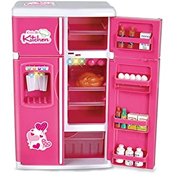 Amazon Com Dream Kitchen Mini Refrigerator Pink Toy