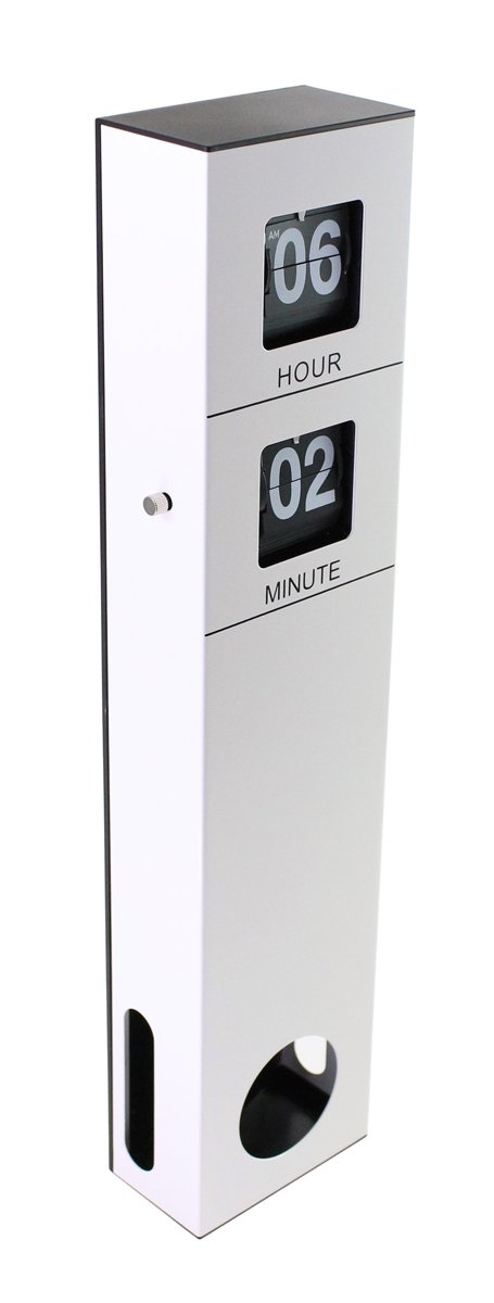Modern retro vintage black white flip clock banking hall White flip clock