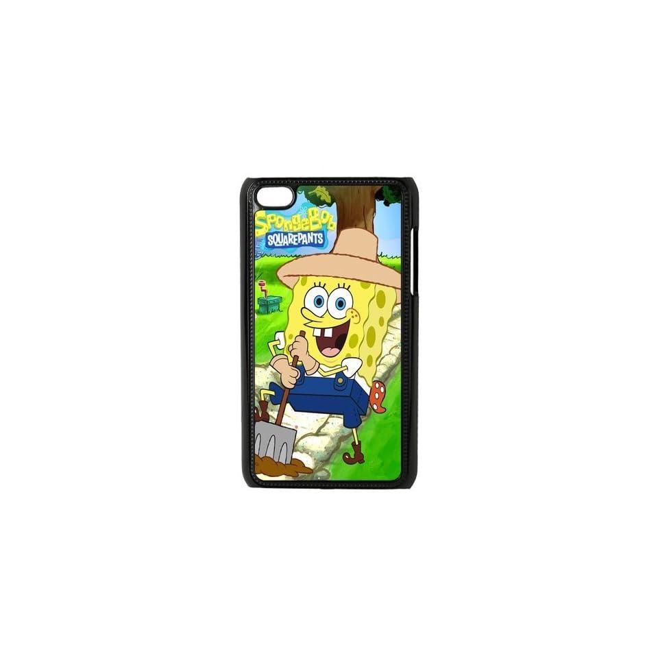 Cute SpongeBob Squarepants iPod 4 Case Cover Cell Phones & Accessories