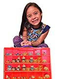 Tsum Tsum Mini Toys Carrying Case - Stores Dozens Of Tsum Tsum Mini Figure And Toys - Durable Toy Storage Organizers By Life Made Better - RED