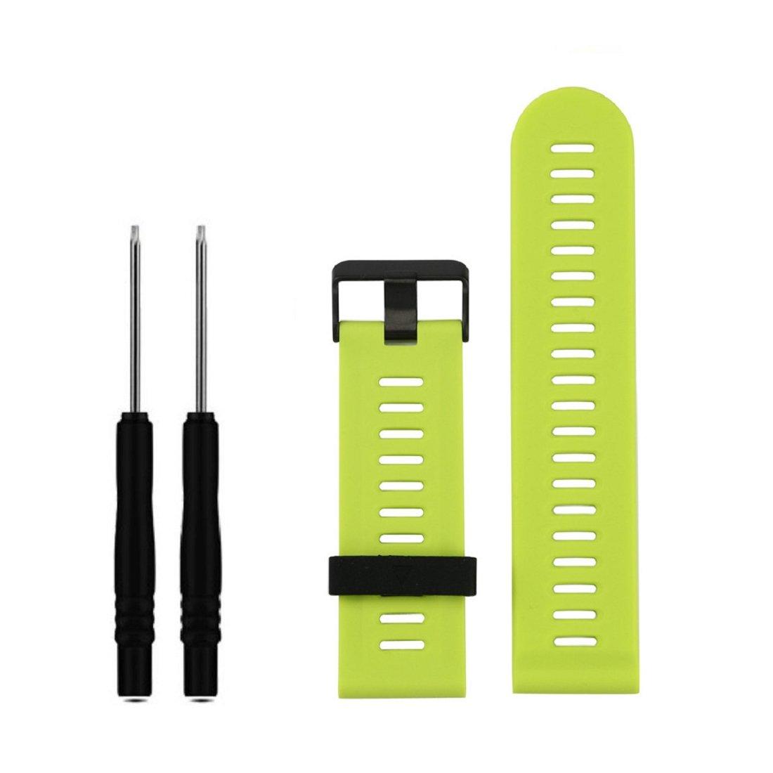 Para Garmin Fenix 3 HR,Xinan Correa de Reloj de Silicona Suave con las Herramientas (Verde): Amazon.es: Relojes