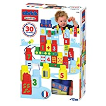 Ecoiffier 7709 - Abrick 30 building blocks with numbers, plastic by Abrick