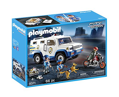 (PLAYMOBIL® Police Money Transporter Building Set)