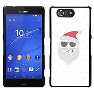 LECELL--Funda protectora / Cubierta / Piel For Sony Xperia Z3 Compact -- Blanca Navidad Vacaciones de Invierno --