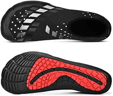 b8219afc4652 MARSVOVO Mens Womens Water Shoes Quick-Drying Barefoot Beach Swimming Shoes