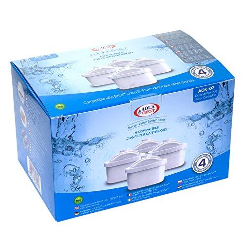 AquaCrest AK-07 Kompatible Laica Bi-Flux Jug Filterpatronen (4)