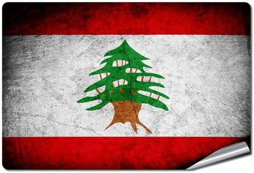ExpressItBest Outdoor/Indoor Decal/Sticker - Flag of Lebanon (Lebanese)
