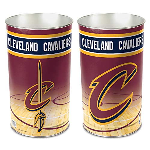 (NBA Cleveland Cavaliers 15 Waste Basket, Team Color, One Size)