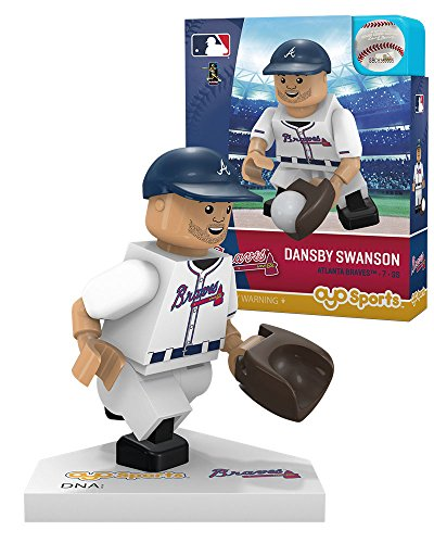 Oyo Sportstoys MLB Toronto Blue Jays Atlanta Braves Dansby Swanson Home Uniform Limited Edition Minifigure, Small, White -