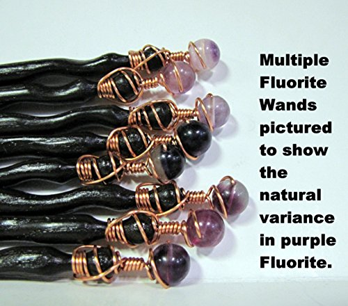 Fluorite Red Oak Real Magic Wand