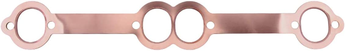 Walmeck 1.8 x 1.5 SBC Exhaust Gaskets Oval Port Copper Header Reusable Replacement for Chevy SB 350