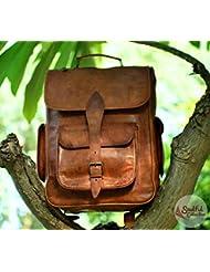 Handolederco Vintage Bag Leather Handmade Vintage Style Backpack/College Backpack/Travel Backpack For Men And...