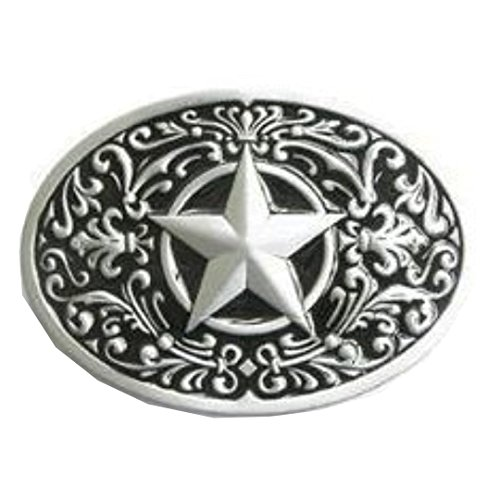 (Western Lone Star Belt Buckle Black)