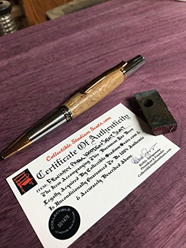 Genuine Fenway Park Seat pen with COA Boston Red Sox by NC WOOD ART