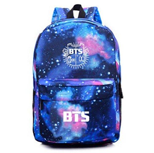 an K-pop Unisex Canvas Galaxy Space Shoulder Bag Backpack Daypack School bag (BTS) (Galaxy Canvas Shoulder Bag)