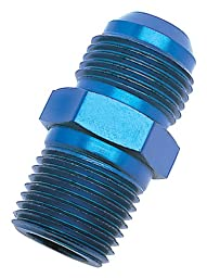 Edelbrock/Russell 660420 Blue Anodized Aluminum -4AN Flare to 1/8\