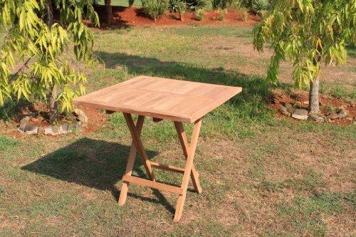Echt Teak Tisch Gartentisch Teaktisch Klappbar 80 x 80 x 75 cm TH026