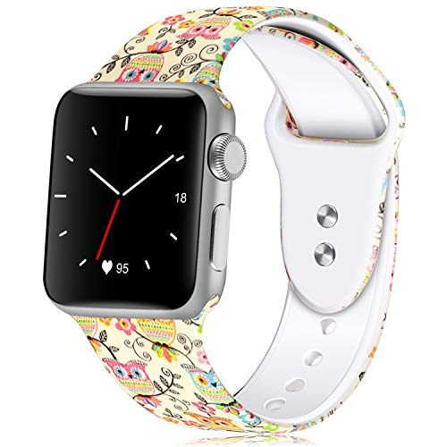 Wrist Strap Original (KOLEK Sport Band Compatible with Apple Watch, Soft Silicone Strap Replacement Bands Wristbands Compatible with iWatch Sport Series 4, 3, 2, 1 S/M, 38mm/40mm)