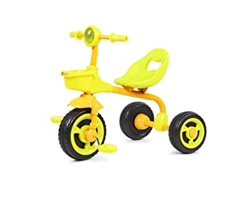 Silla de paseo, triciclo Bicicleta Niño Bebé 1-3 años de edad Rueda de empuje Niño Niña Familia 67 * 49 * 57cm (Color : Amarillo) : Amazon.es: Juguetes y ...