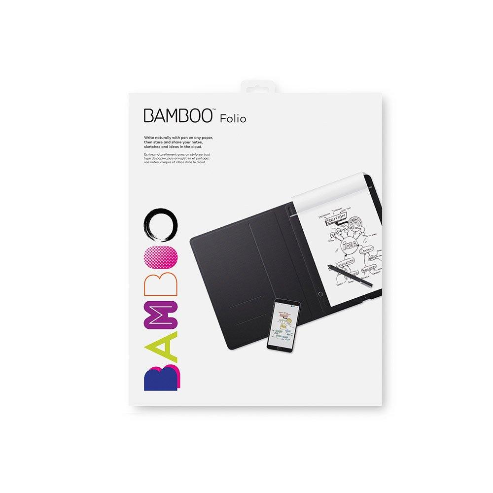 Wacom Bamboo Folio - Cuaderno Digital Inteligente con Funda para Documentos, Color Gris