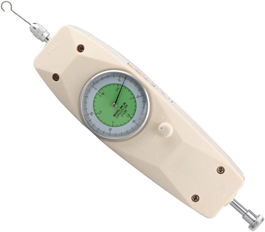 Festnight Tipo di puntatore manuale Push Pull Misuratore di portata Tester NK-300 Analizzatore di dinamometro analogico Strumento di misurazione con display N//Kg