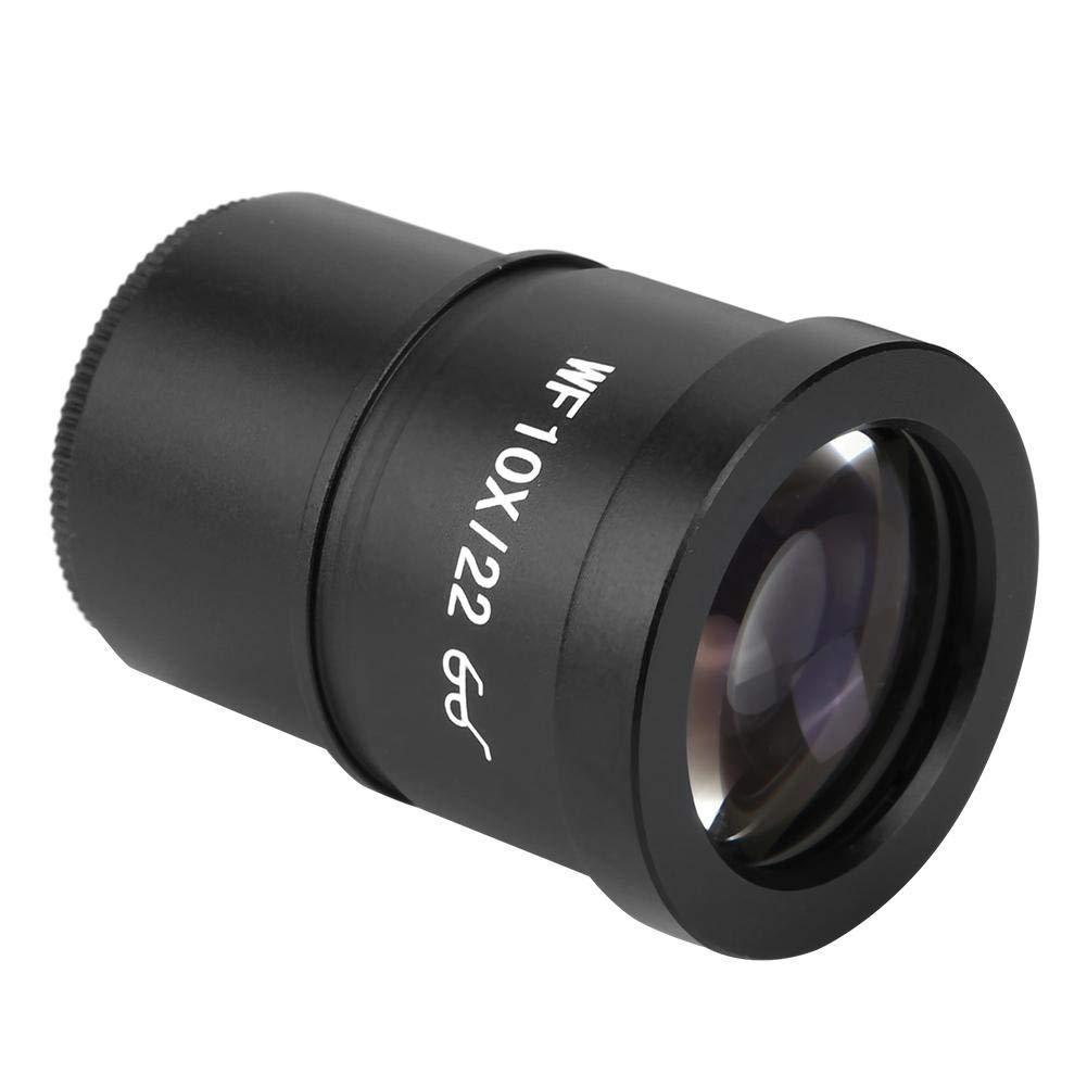 Akozon Microscope Eyepiece WF006G-b WF10X//22mm Microscope Wide Angle Eyepiece Ocular Eyepoint Lens Adjustable Wide Field 30.5mm