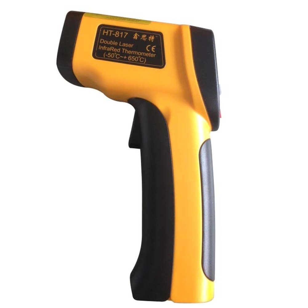Industrial Laser LCD Digital IR Infrared Thermometer Temperature Meter Gun Non-contact Infrared with Dual Laser Targeting HT-819