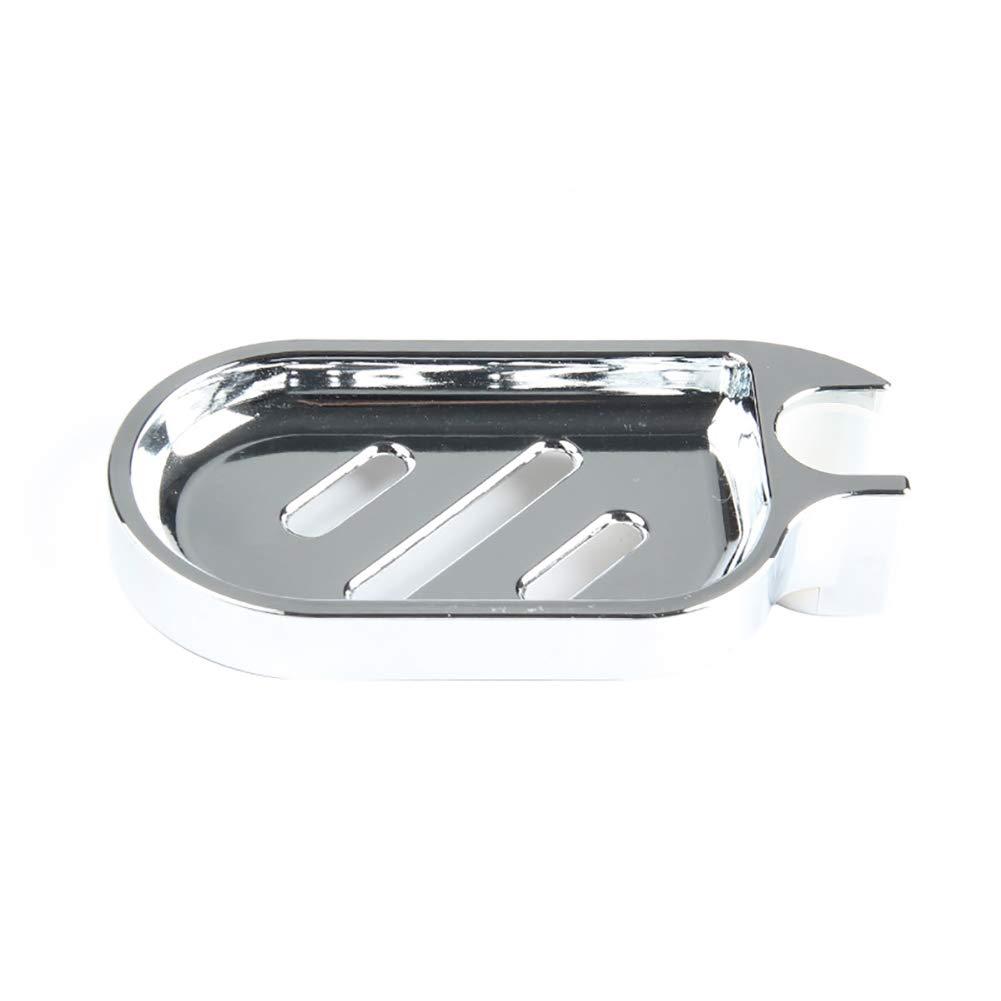 Slendima 6.50'' x 3.35'' Soap Rack Drain Dish,ABS Bathroom Storage Holder Shower Accessories Organizer