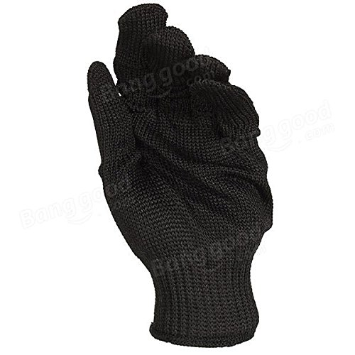 Black Stainless Steel Wire Safety Anti-Slash Gloves by Freelance Shop SportingGoods (Image #3)