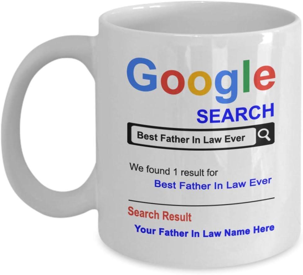 Taza personalizada para suegro, taza de café con texto en inglés «Best suegro in law ever» para el día del padre – regalo para suegros – regalos de agradecimiento para cumpleaños de Navidad