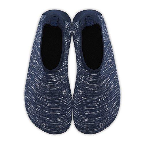 für Barfuß Schuhe Badeschuhe Schwimmen Herren graues Schwarz Aqua Damen Strandschuhe Rutschfeste Wassersport Jb Leicht Yoga B1ztqHnx