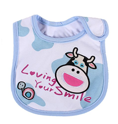 [Cow Newborns Infant 0-3 Years Baby Bibs Infant Saliva Towels Newborn Wear Burp Cloths] (Infant Red Minnie My First Disney Costumes)